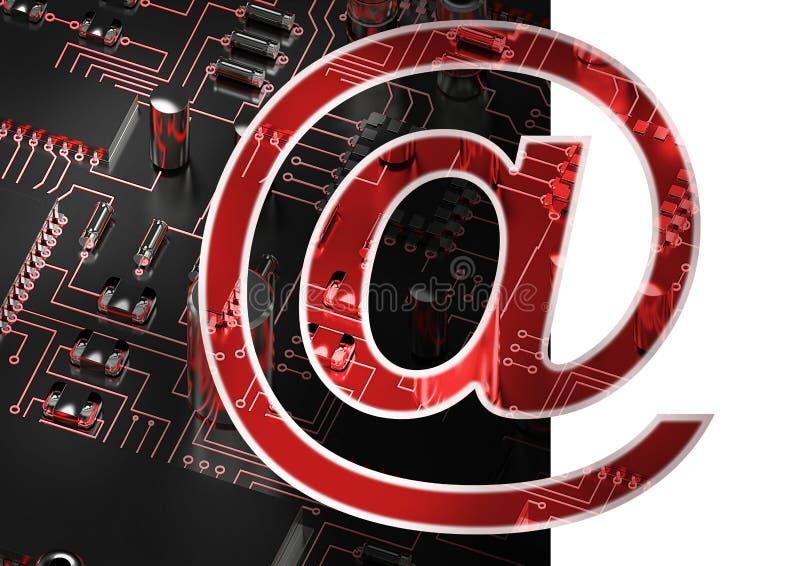 Imagen compuesta en del símbolo del email fotografía de archivo