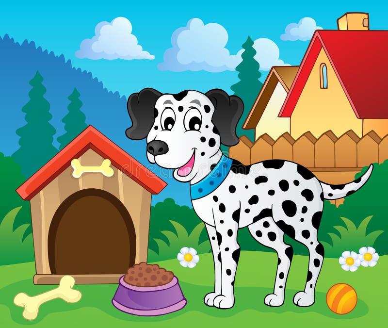 Imagen con el tema 8 del perro ilustración del vector