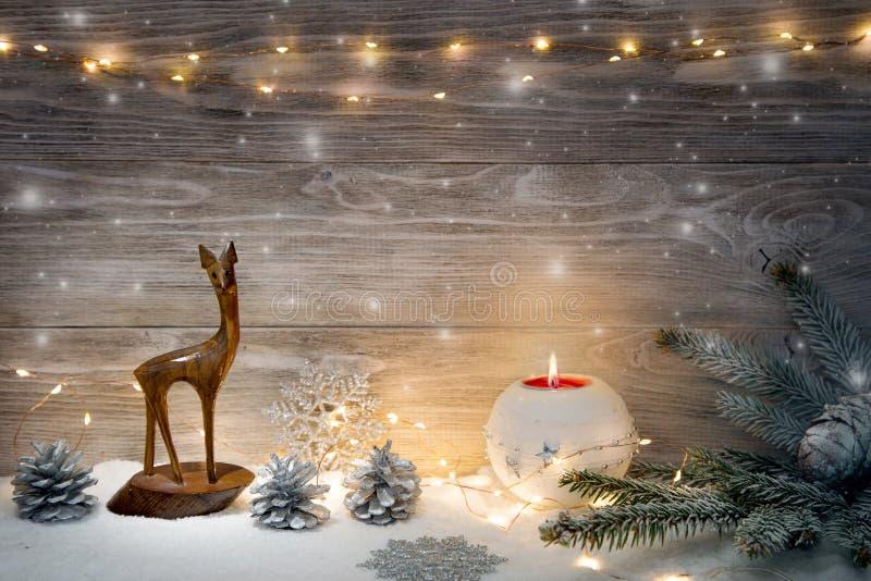 Imagen con las decoraciones de la Navidad fotos de archivo