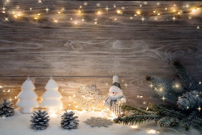 Imagen con las decoraciones de la Navidad imagen de archivo