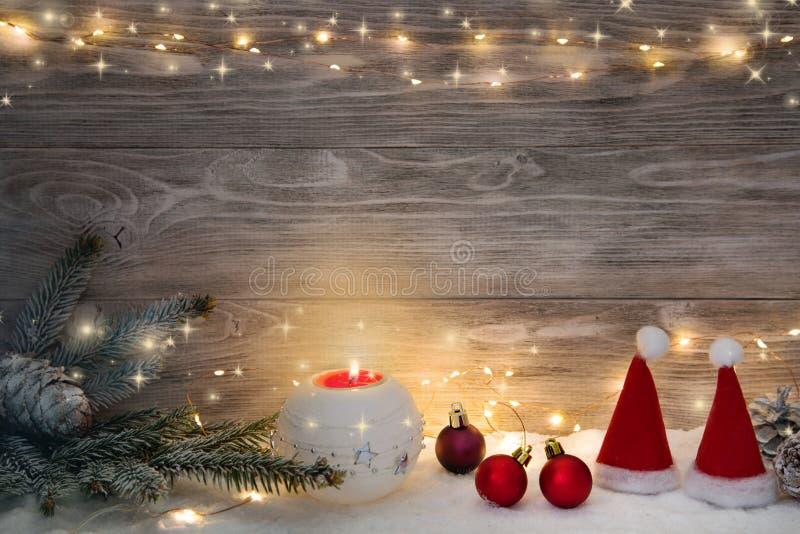 Imagen con las decoraciones de la Navidad imagen de archivo libre de regalías