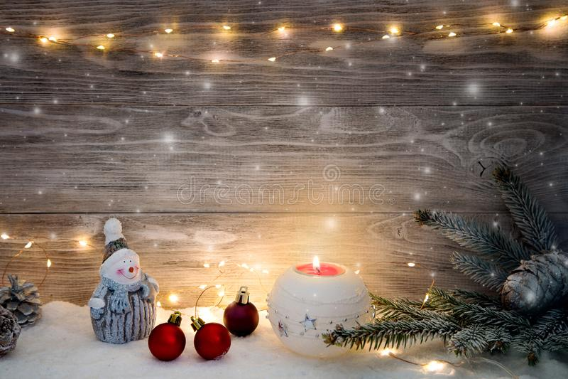Imagen con las decoraciones de la Navidad imágenes de archivo libres de regalías
