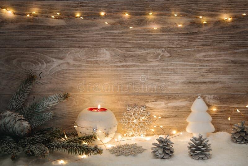 Imagen con las decoraciones de la Navidad fotografía de archivo