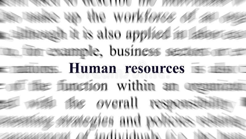 Imagen conceptual con el foco en los recursos humanos foto de archivo libre de regalías