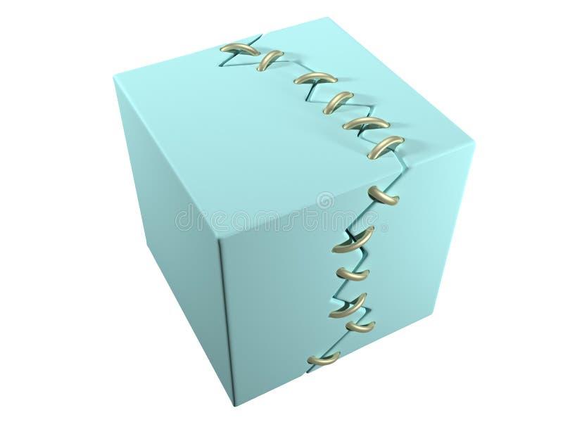 Imagen conceptual de reparar la cosa rota (cubo) ilustración del vector