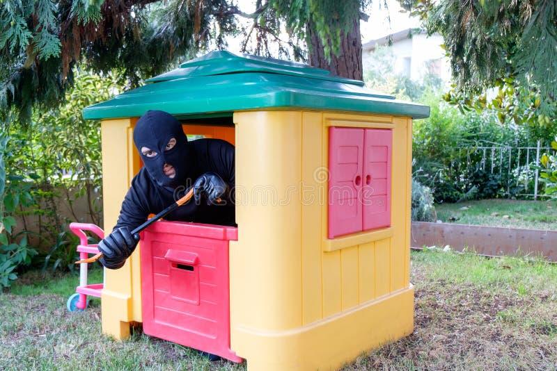 Imagen conceptual de un ladrón fotografía de archivo