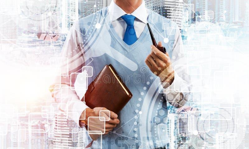 Imagen conceptual del hombre de negocios acertado imágenes de archivo libres de regalías