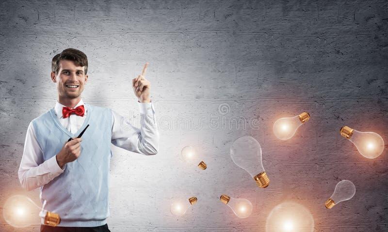 Imagen conceptual del hombre de negocios joven fotos de archivo libres de regalías