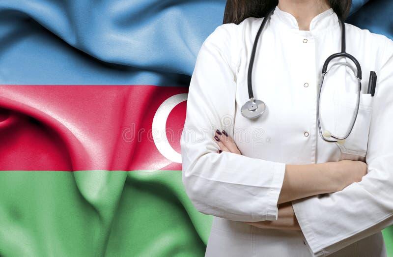 Imagen conceptual del sistema sanitario nacional en Azerbaijan fotografía de archivo libre de regalías