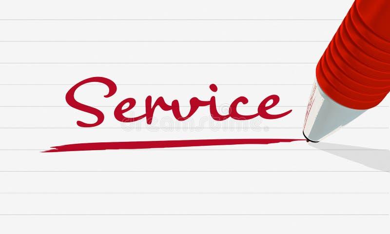 Imagen conceptual sobre servicio en relaciones de negocio libre illustration