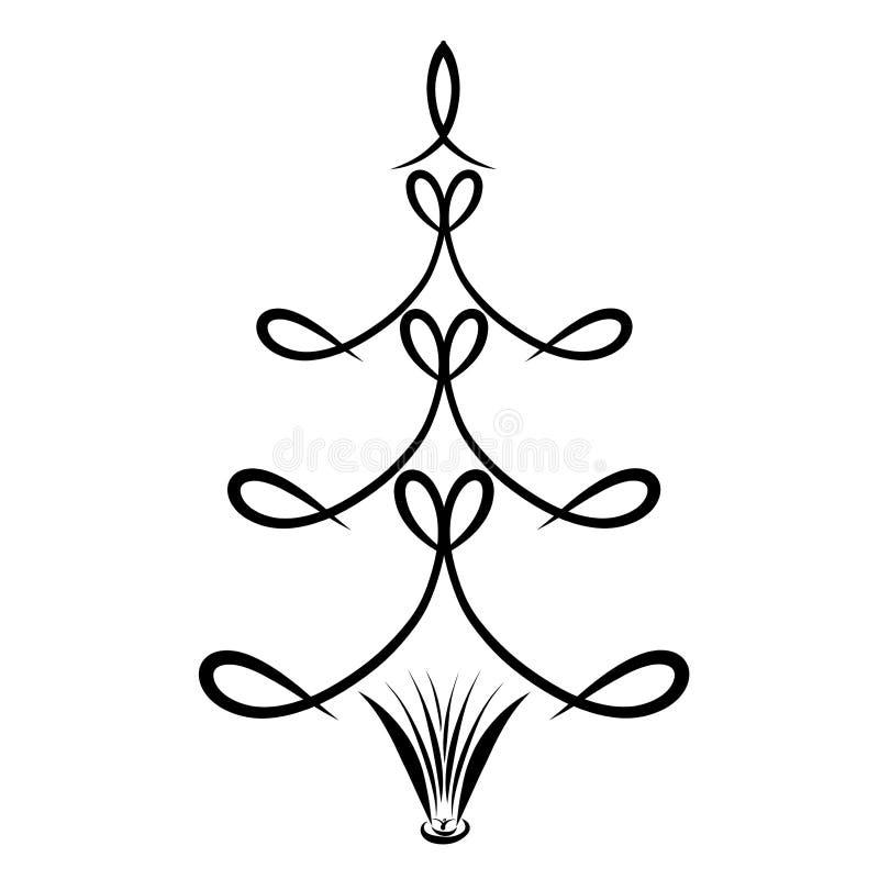 Imagen creativa del árbol, pescados simbólicos, corazón y libro stock de ilustración