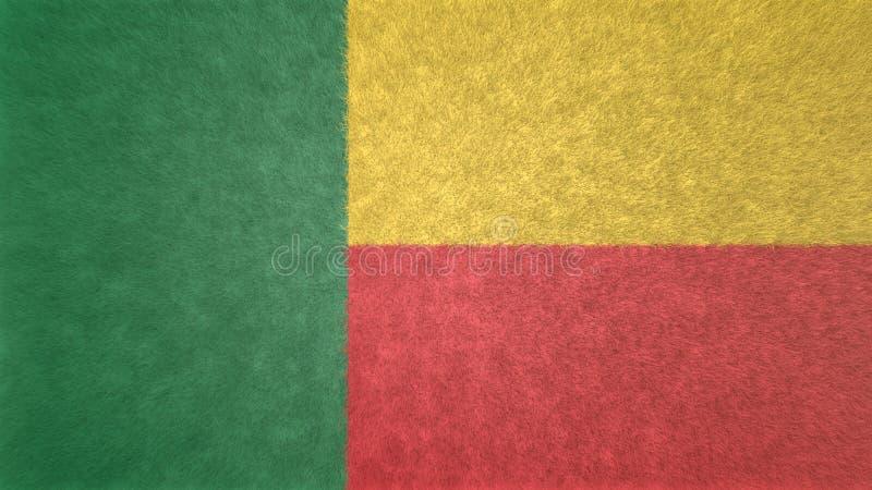 imagen 3D de la bandera de Benin ilustración del vector