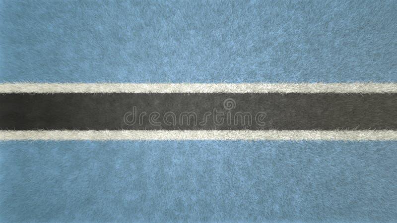imagen 3D de la bandera de Botswana ilustración del vector