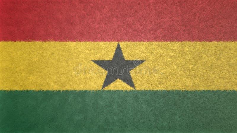imagen 3D de la bandera de Ghana ilustración del vector