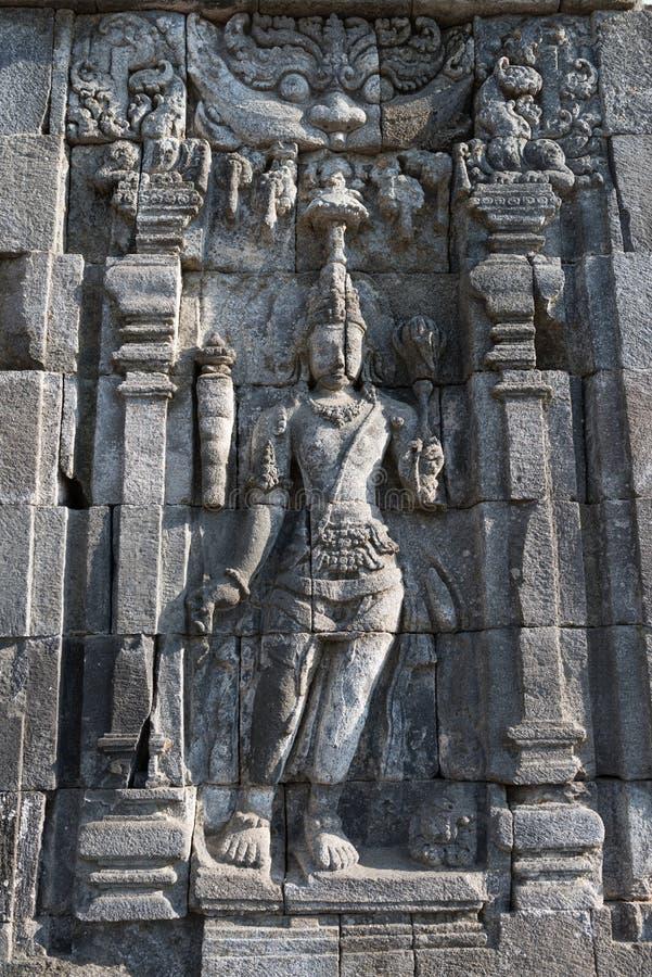 Imagen de Boddhisattva en el complejo budista de Candi Sewu, Java, Indone foto de archivo