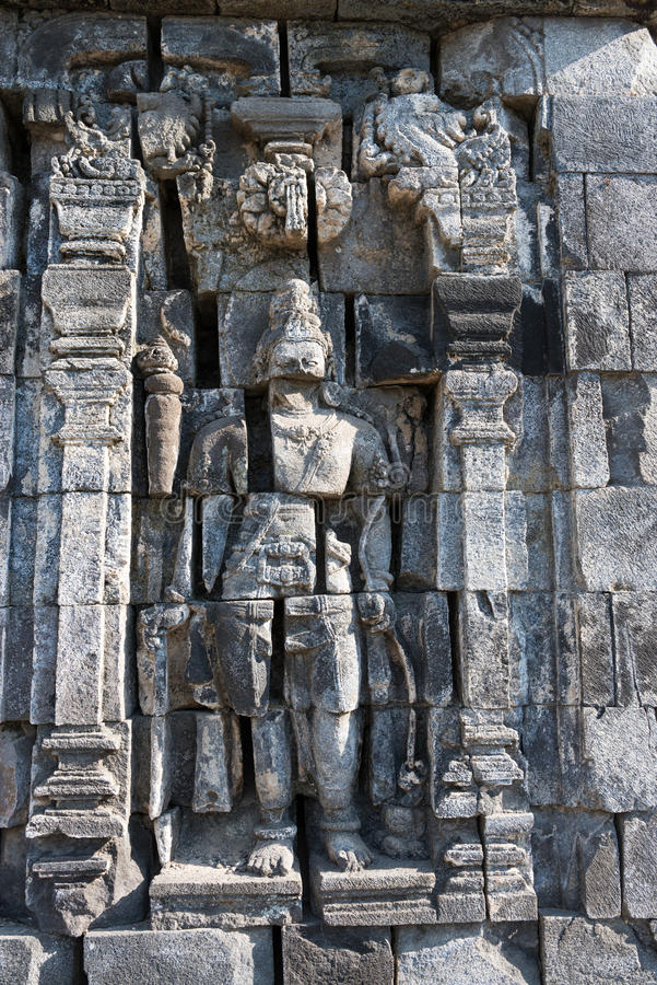 Imagen de Boddhisattva en el complejo budista de Candi Sewu, Java, Indones fotos de archivo