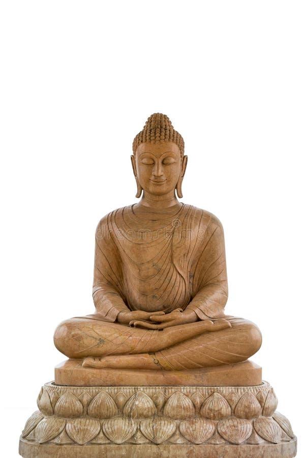 Imagen de Buda del mármol de Brown foto de archivo