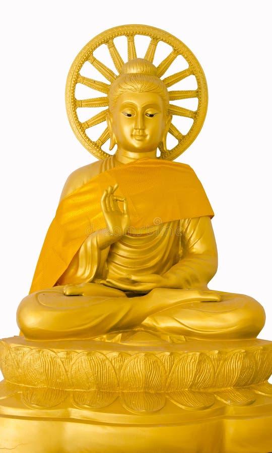 Imagen de buddha con la rueda de engranaje foto de archivo libre de regalías