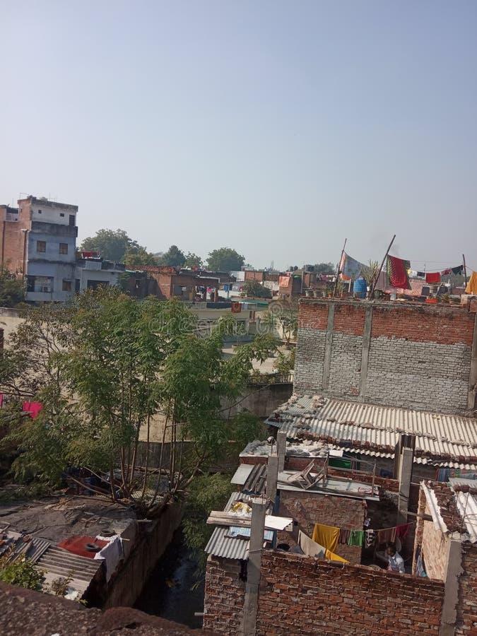 Imagen de casas ubicadas en la ciudad de Lucknow India imágenes de archivo libres de regalías