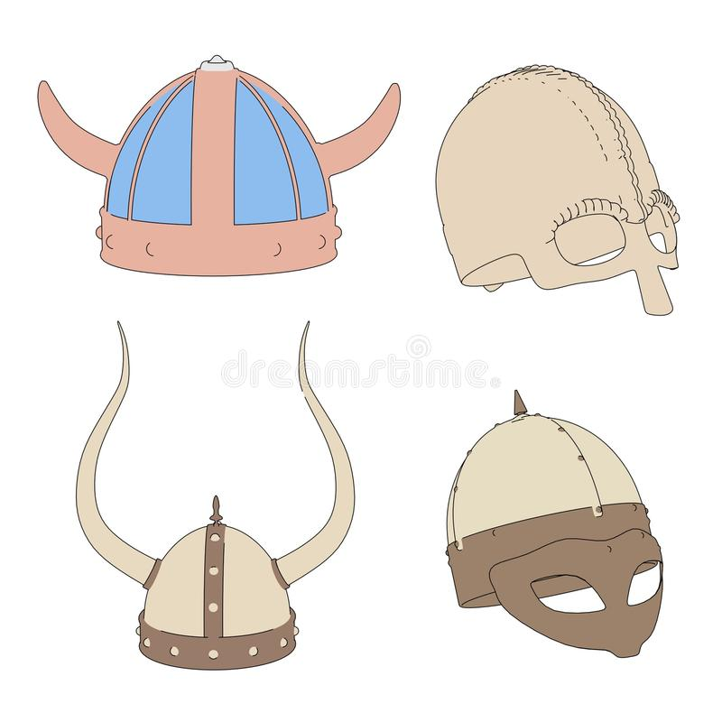 Imagen de cascos medievales libre illustration