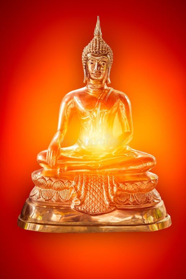 Imagen de cobre amarillo pacífica de Buda del poder fotos de archivo