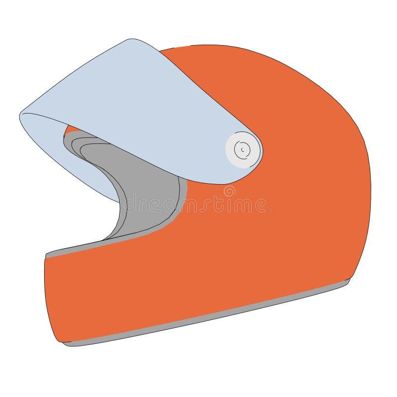 Imagen de competir con el casco ilustración del vector