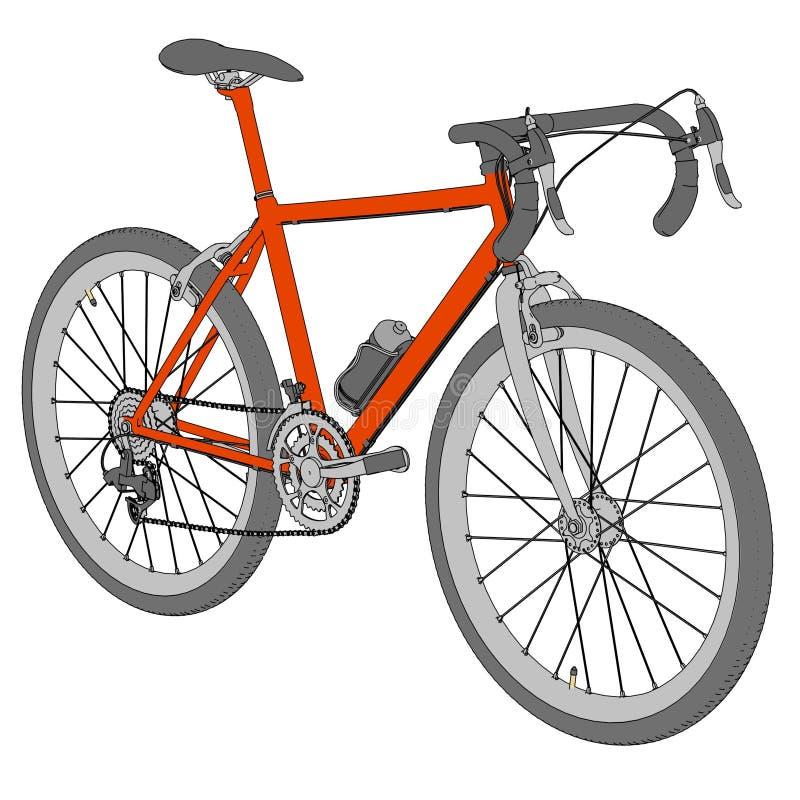 Imagen de competir con la bici ilustración del vector