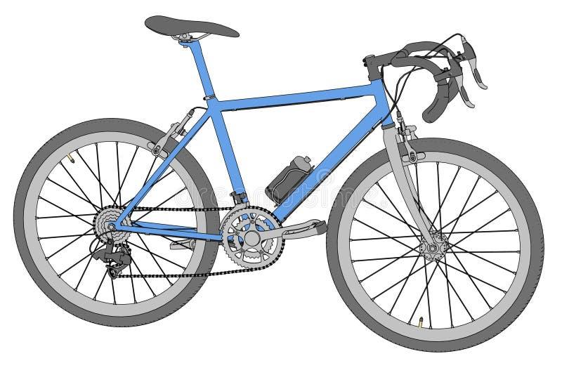 Imagen de competir con la bici stock de ilustración