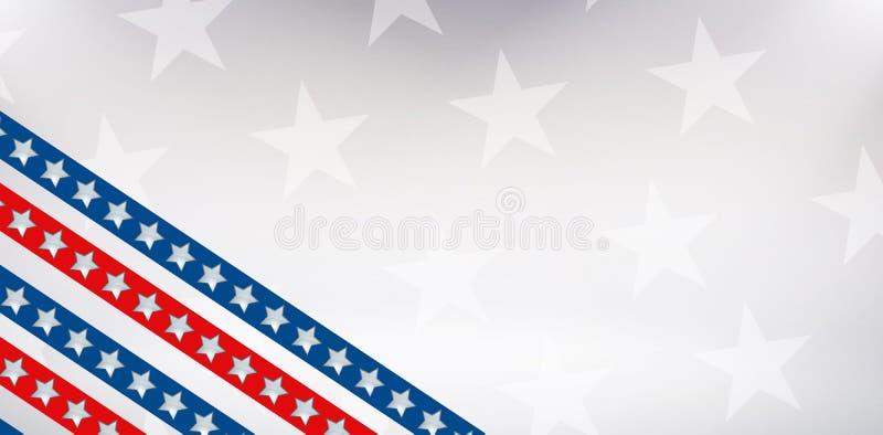 Imagen de Digitaces de la bandera americana stock de ilustración