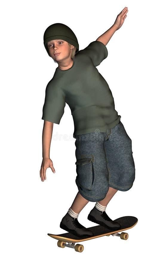 Imagen de Digitaces del muchacho ilustración del vector
