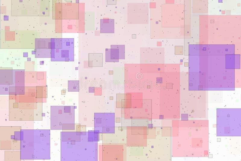 Imagen de fondo abstracta traslapada de los cuadrados imagenes de archivo