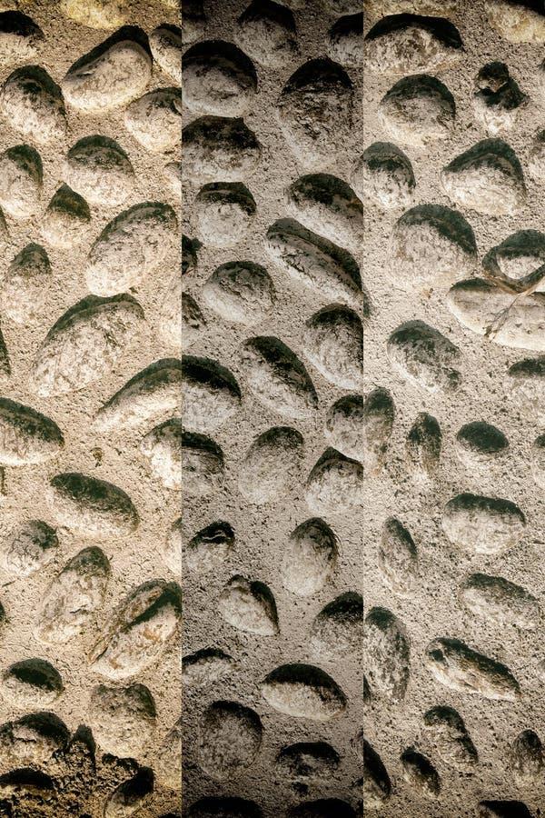 Imagen de fondo agradable de guijarros, textura redonda de las rocas fotos de archivo