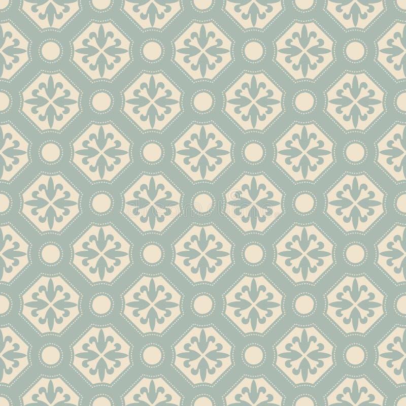 Imagen de fondo antigua elegante de la línea redonda estampado de plores del punto del polígono libre illustration