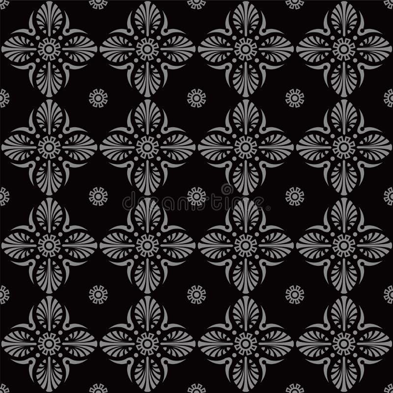 Imagen de fondo antigua oscura elegante de la flor de la cruz de la fan libre illustration