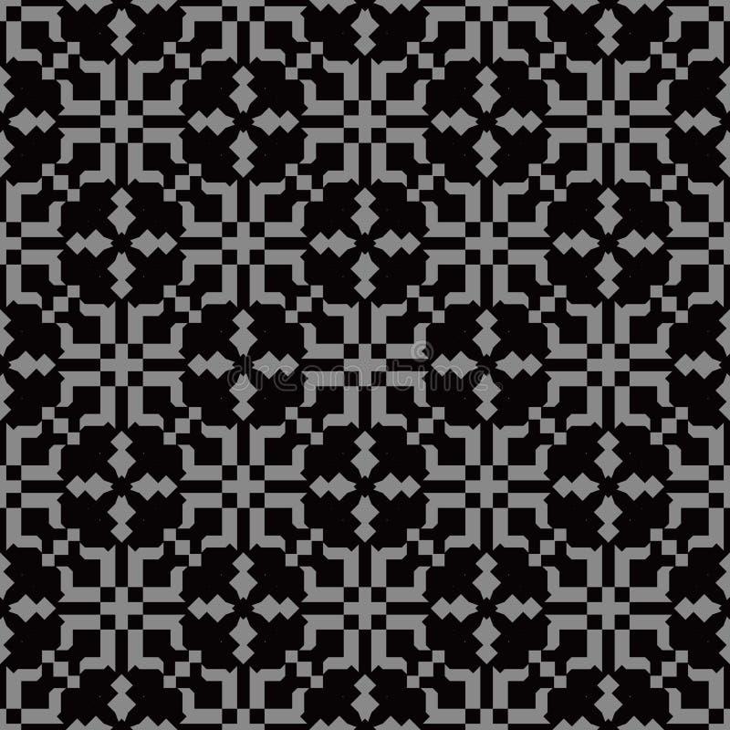 Imagen de fondo antigua oscura elegante de la geometría del caleidoscopio del mosaico stock de ilustración