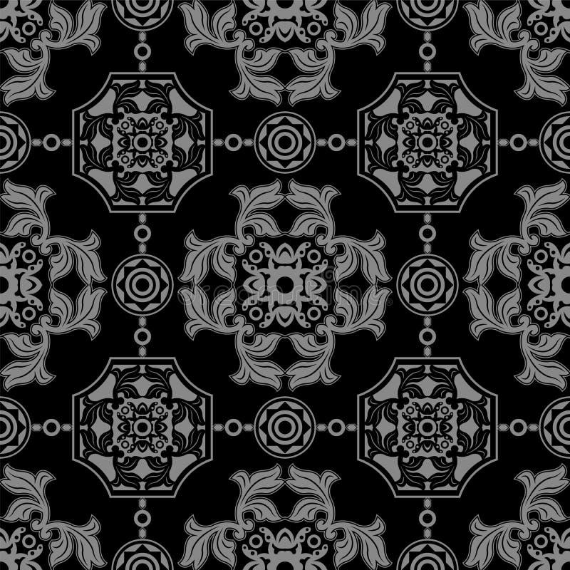 Imagen de fondo antigua oscura elegante de la geometría redonda del polígono de la hoja libre illustration