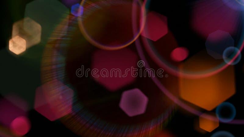 Imagen de fondo colorida del hexágono fotos de archivo