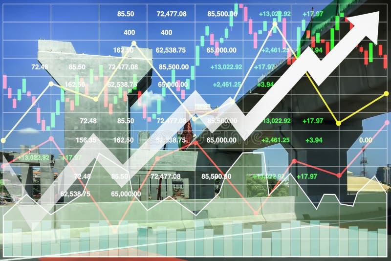 Imagen de fondo financiera de la presentación de la economía imagen de archivo libre de regalías