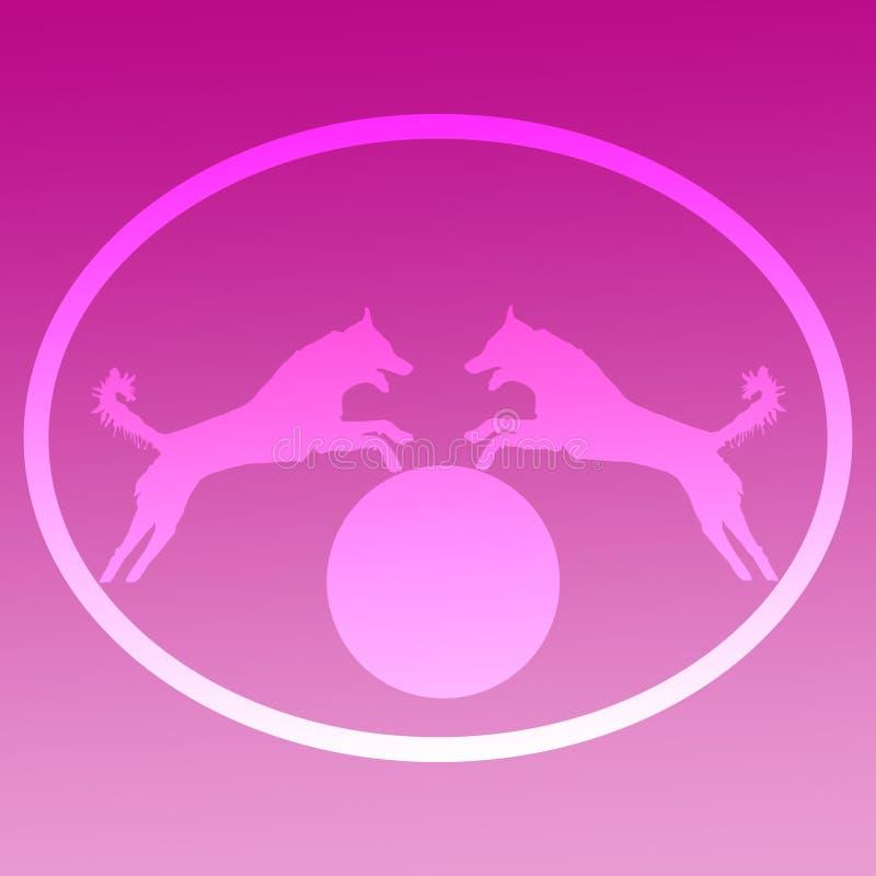 Imagen de fondo Logo Jumping Dog ilustración del vector