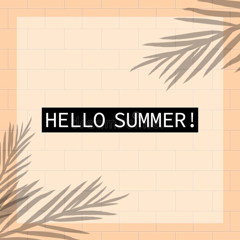 Imagen de fondo temática del vector de las vacaciones de verano tropicales stock de ilustración