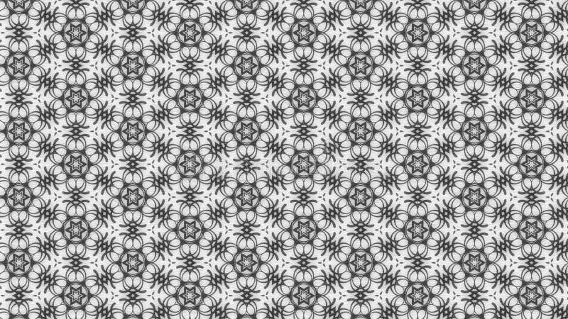Imagen de Grey Floral Vintage Pattern Background stock de ilustración