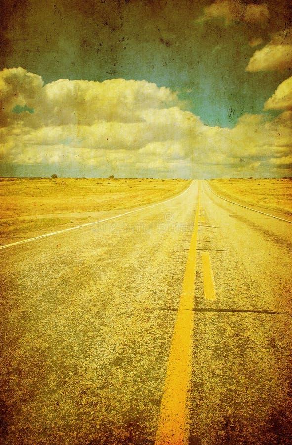 Imagen de Grunge de la carretera fotografía de archivo libre de regalías
