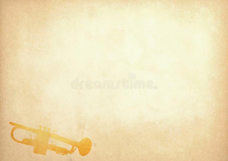 Imagen de Grunge de la trompeta del papel viejo libre illustration