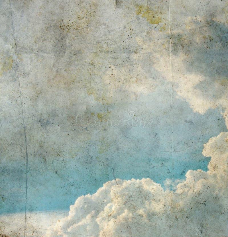 Imagen de Grunge del cielo azul imagen de archivo