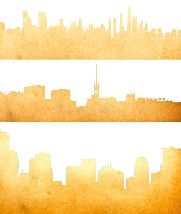 Imagen de Grunge del paisaje urbano aislado imagenes de archivo