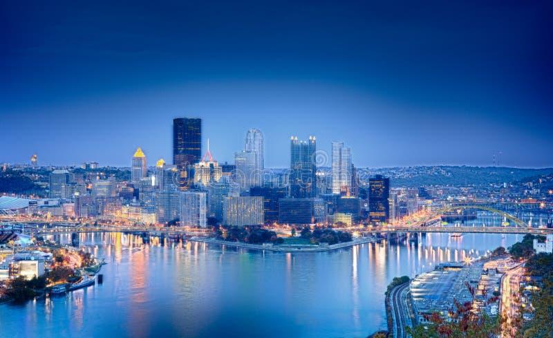 Imagen de HDR de Pittsburgh fotografía de archivo