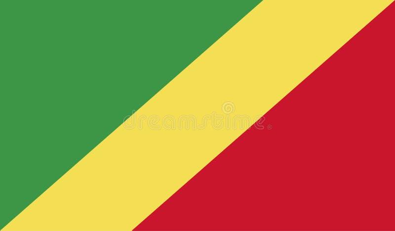 Imagen de la bandera de Congo ilustración del vector