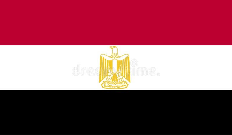 Imagen de la bandera de Egipto ilustración del vector