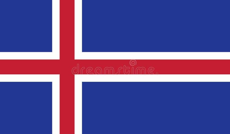 Imagen de la bandera de Islandia stock de ilustración