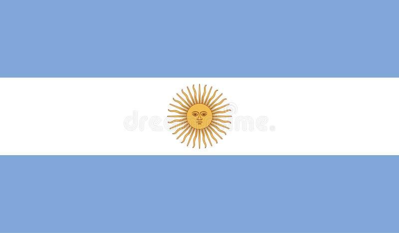 Imagen de la bandera de la Argentina ilustración del vector